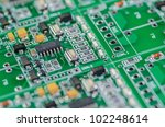electronic circuit chip on board | Shutterstock . vector #102248614
