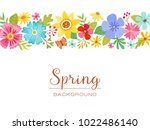 spring background with a... | Shutterstock .eps vector #1022486140
