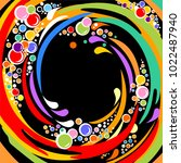 black background with colorful... | Shutterstock .eps vector #1022487940