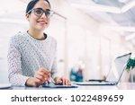 prosperous female... | Shutterstock . vector #1022489659