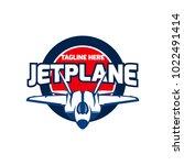 jet plane logo design   Shutterstock .eps vector #1022491414