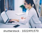 creative female designer... | Shutterstock . vector #1022491570