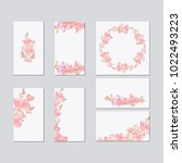 set of flower wedding ornament... | Shutterstock .eps vector #1022493223