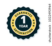 one year guarantee | Shutterstock .eps vector #1022493964