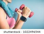 smart watch  fitness  health ... | Shutterstock . vector #1022496544