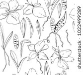 seamless floral pattern with... | Shutterstock .eps vector #1022499289