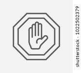 stop icon line symbol. isolated ...