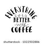 quote coffee typography set.... | Shutterstock .eps vector #1022502886