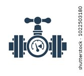 gas pipeline with a valve and...