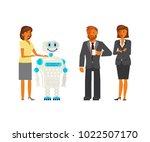artificial intelligence concept ... | Shutterstock .eps vector #1022507170