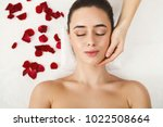 woman enjoying anti aging... | Shutterstock . vector #1022508664