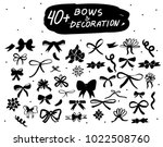 vector hand drawn bows set....