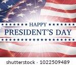 happy president's day   poster... | Shutterstock .eps vector #1022509489