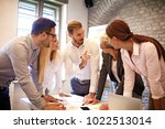 creative business team working... | Shutterstock . vector #1022513014
