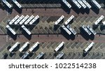 aerial top down photo of bus... | Shutterstock . vector #1022514238