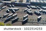 aerial bird view of bus... | Shutterstock . vector #1022514253