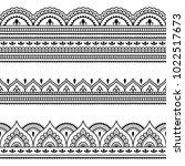 set of seamless borders for... | Shutterstock .eps vector #1022517673