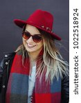 portrait shoot of young stylish ...   Shutterstock . vector #1022518924