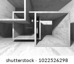 abstract geometric concrete... | Shutterstock . vector #1022526298