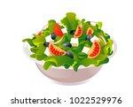 greek salad vector illustration | Shutterstock .eps vector #1022529976