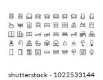 furniture icon set vector... | Shutterstock .eps vector #1022533144