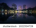 the photo of lumpini park ... | Shutterstock . vector #1022534728
