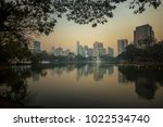 the photo of lumpini park ... | Shutterstock . vector #1022534740