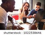 startup diversity teamwork... | Shutterstock . vector #1022538646