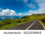 beautiful road on flores island ... | Shutterstock . vector #1022539843