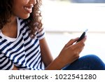 close up portrait of happy... | Shutterstock . vector #1022541280
