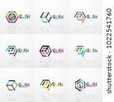 cube idea concept logo  line... | Shutterstock .eps vector #1022541760