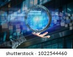 view of a hologram made of... | Shutterstock . vector #1022544460