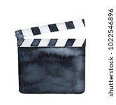 movie clapper board. single... | Shutterstock . vector #1022546896