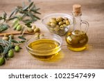 extra virgin healthy olive oil... | Shutterstock . vector #1022547499