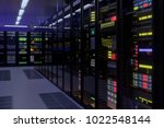 working data center interior.... | Shutterstock . vector #1022548144