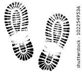 human footprints shoe... | Shutterstock .eps vector #1022549536
