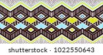 ikat geometric folklore... | Shutterstock .eps vector #1022550643