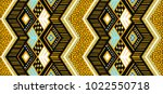 Ikat geometric folklore ornament. Tribal ethnic vector texture. Seamless striped  pattern in Aztec style. Figure tribal  embroidery. Indian, Scandinavian, Gypsy, Mexican, folk pattern.  | Shutterstock vector #1022550718