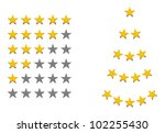 rating signs  yellow  gold stars | Shutterstock . vector #102255430