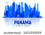 panama city   panama   skyline...   Shutterstock .eps vector #1022555059