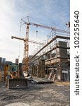 Large Construction Site With...