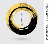 vector black and gold circle... | Shutterstock .eps vector #1022556460