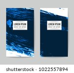 set of vector business card... | Shutterstock .eps vector #1022557894