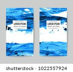set of vector business card... | Shutterstock .eps vector #1022557924