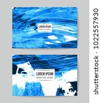 set of vector business card... | Shutterstock .eps vector #1022557930