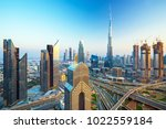 futuristic dubai city center ... | Shutterstock . vector #1022559184