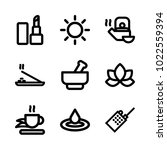icons wellness and spa. vector... | Shutterstock .eps vector #1022559394