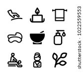 icons wellness and spa. vector... | Shutterstock .eps vector #1022559553