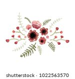 vector illustration. floral... | Shutterstock .eps vector #1022563570