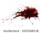 blood drops  isolated on white... | Shutterstock . vector #1022568118